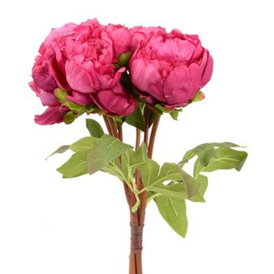 Fuchsia Peony Bouquet, 15 in.