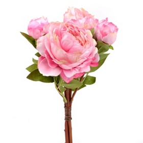 Pink Peony Bouquet, 15 in.