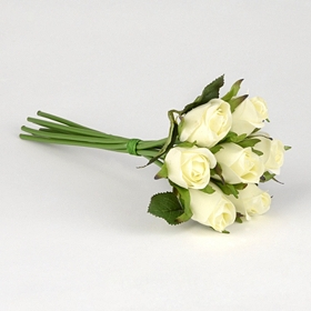 Ivory Rose Bouquet, 10 in.