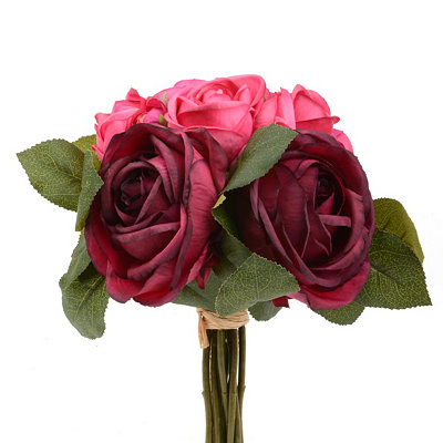 Red Rose and Ranunculus Bouquet, 12 in.
