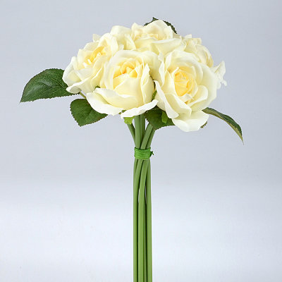 White Rose Bouquet, 10 in.