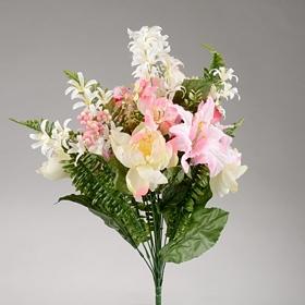 Pink Lily and Peony Bush