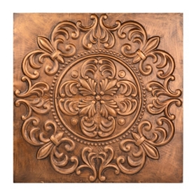 Copper Leaf Medallion Tile