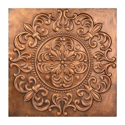 Copper Leaf Medallion Tile