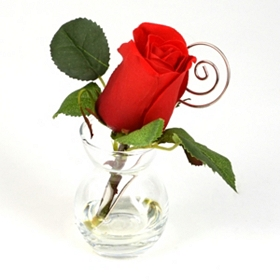 Single Red Rose Arrangement