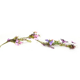 Violet Butterfly Garland