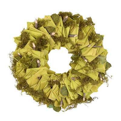Wooden Slice Wreath, 8.5 in.