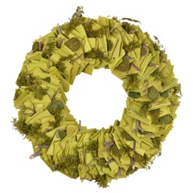 Wooden Slice Wreath, 11.5 in.