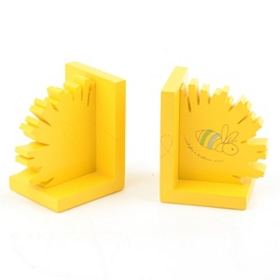 Yellow Dandelion Bookends, Set of 2