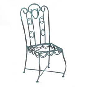 Blue Bistro Chair Bottle Holder