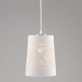 Tapered White Chandelier