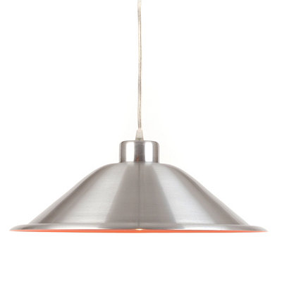 Silver and Red Tapered Pendant Lamp