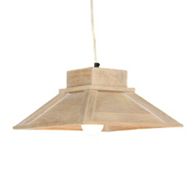 Square Whitewash Pendant Lamp
