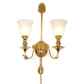 Frosted Globe Double Wall Sconce