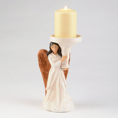 Guardian Angel Pillar Candle Holder