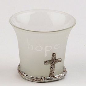 Hope Frosted Glass Votive Holder
