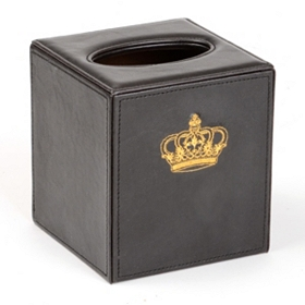 Regal Faux Leather Tissue Holder