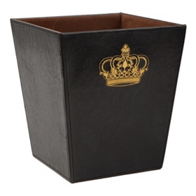 Regal Faux Leather Waste Basket