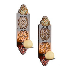 Monterrey Embossed Metal Sconces, Set of 2