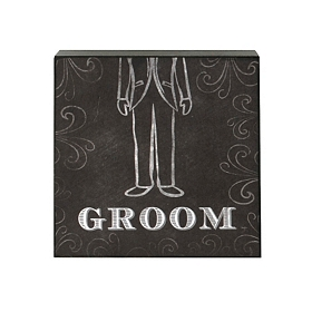 Groom Word Block