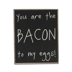 Bacon to My Eggs Word Block