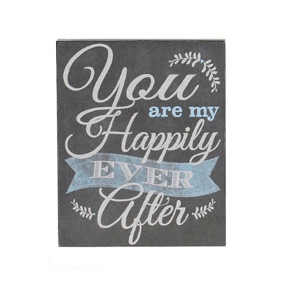 Happily Ever After Word Block