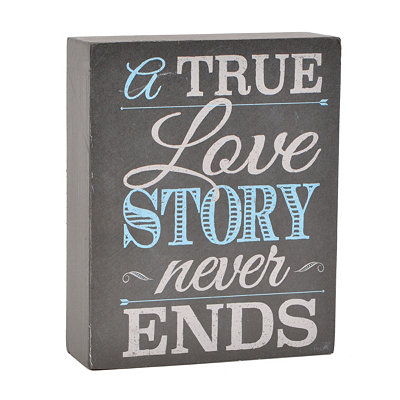 True Love Story Word Block