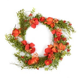 Poppy Meadow Wreath