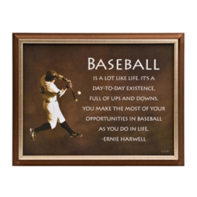 Baseball is Like Life Plaque