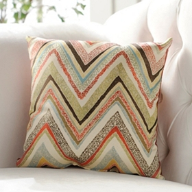 Spice Zig Zag Accent Pillow