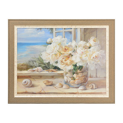 Coastal Flowers Framed Art Print