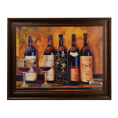 Dusty Wine Bottles Framed Art Print