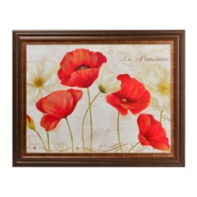 Parisian Poppies Framed Art Print