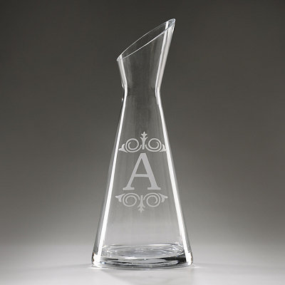 Monogram A Glass Carafe