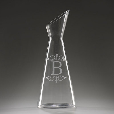 Monogram B Glass Carafe