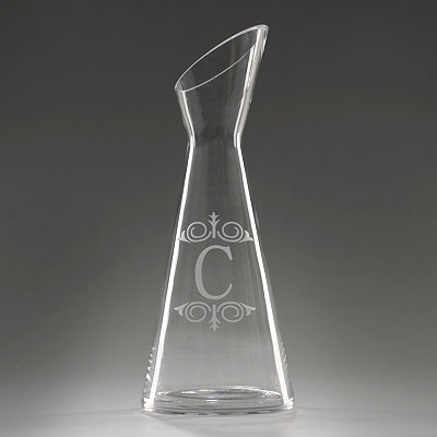 Monogram C Glass Carafe