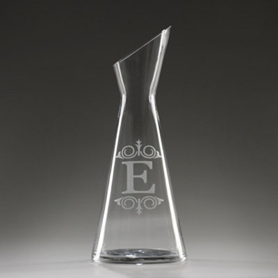 Monogram E Glass Carafe