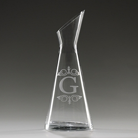 Monogram G Glass Carafe