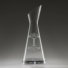 Monogram I Glass Carafe
