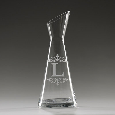 Monogram L Glass Carafe