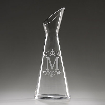 Monogram M Glass Carafe