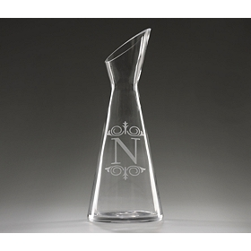 Monogram N Glass Carafe