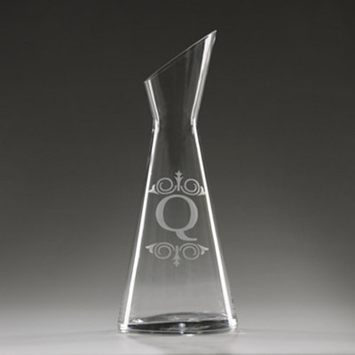 Monogram Q Glass Carafe