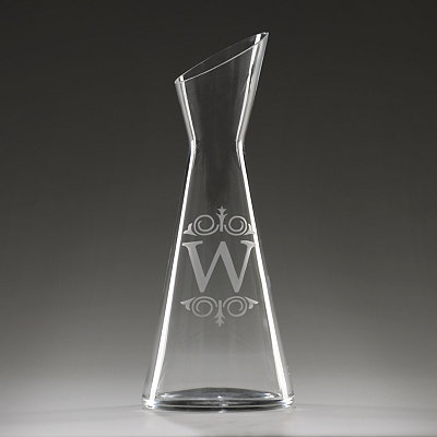 Monogram W Glass Carafe