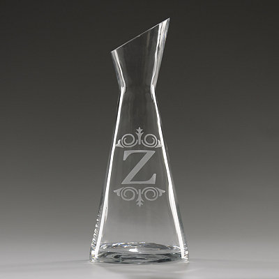 Monogram Z Glass Carafe