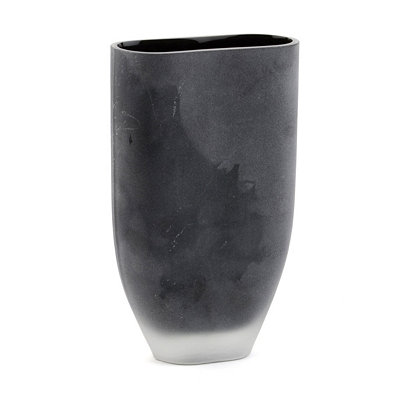 Black Sandblasted Glass Vase