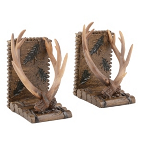 Natural Antler Bookends, Set of 2