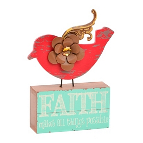 Red Bird Faith Statue
