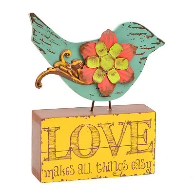 Green Bird Love Statue