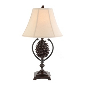 Brown Pine Cone Table Lamp